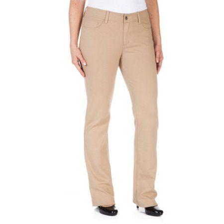 Faded glory ponte bootcut pants khaki