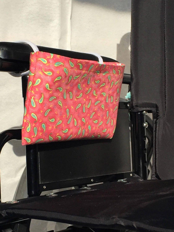 Wheelchair Arm Rest Side Bag, Size Medium, Single Pocket, Wheelchair ...