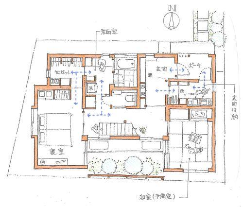 収納室を通過動線にする 家の間取り コンテナハウス Diy 平面図