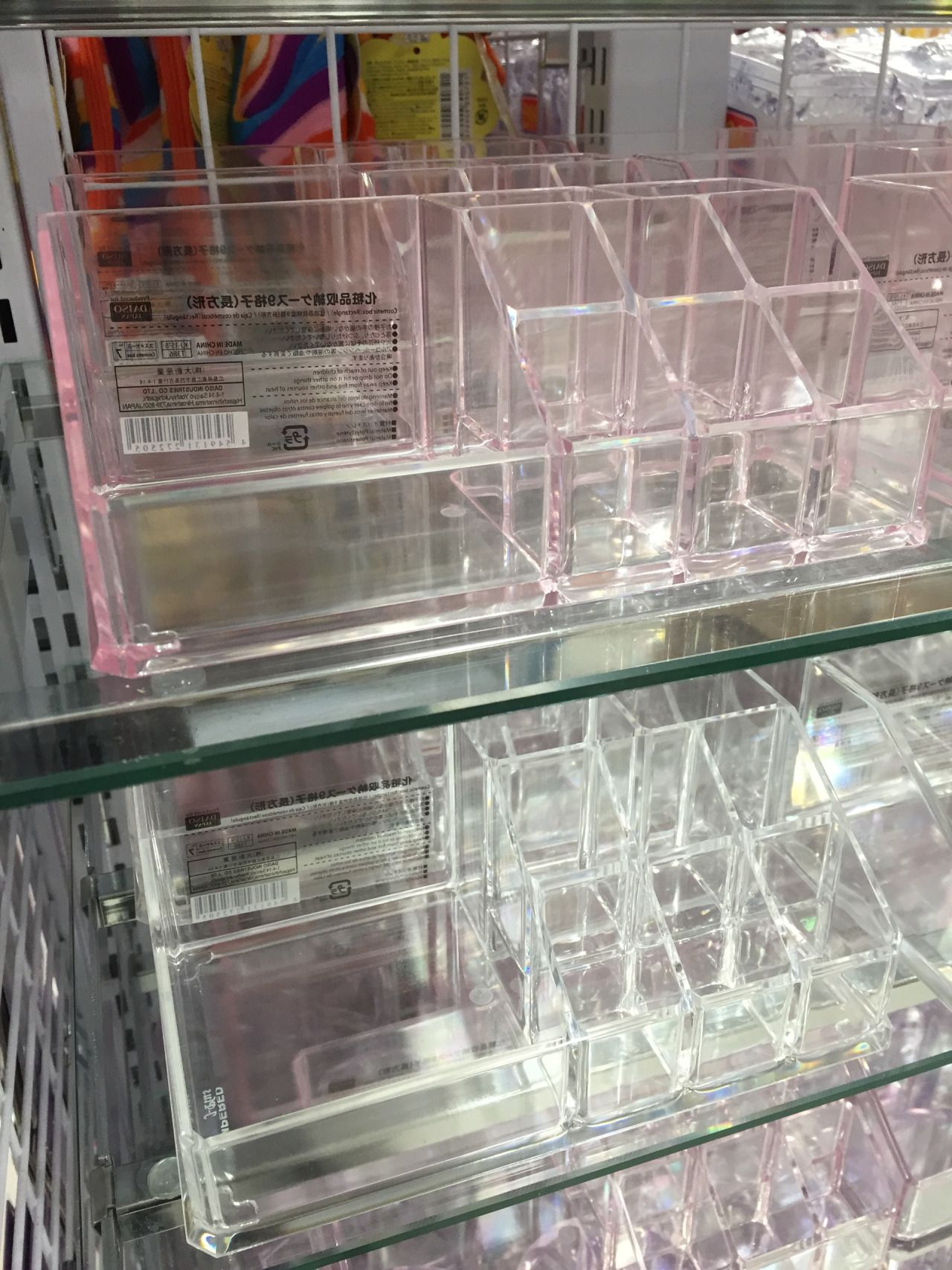 Daiso Days Acrylic Cosmetic Holders