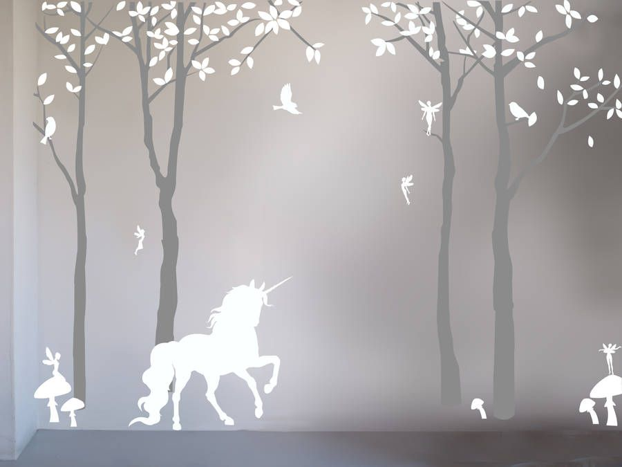 Magical unicorn wall sticker by bambizi chambres b b for Chambre unicorn