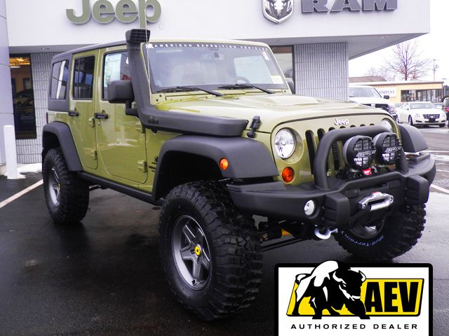 2013 Jeep Wrangler Unlimited Rubicon Aev Commando Green With 3 5