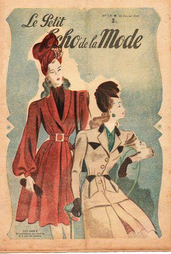 revue le petit ECHO DE LA MODE n°58 année 1945, février