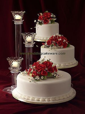 3 tier cascading wedding cake stand stands   3 tier candle stand     3 TIER CASCADING WEDDING CAKE STAND STANDS   3 TIER CANDLE STAND