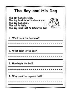 Gutsy image throughout free printable reading worksheets for 1st grade