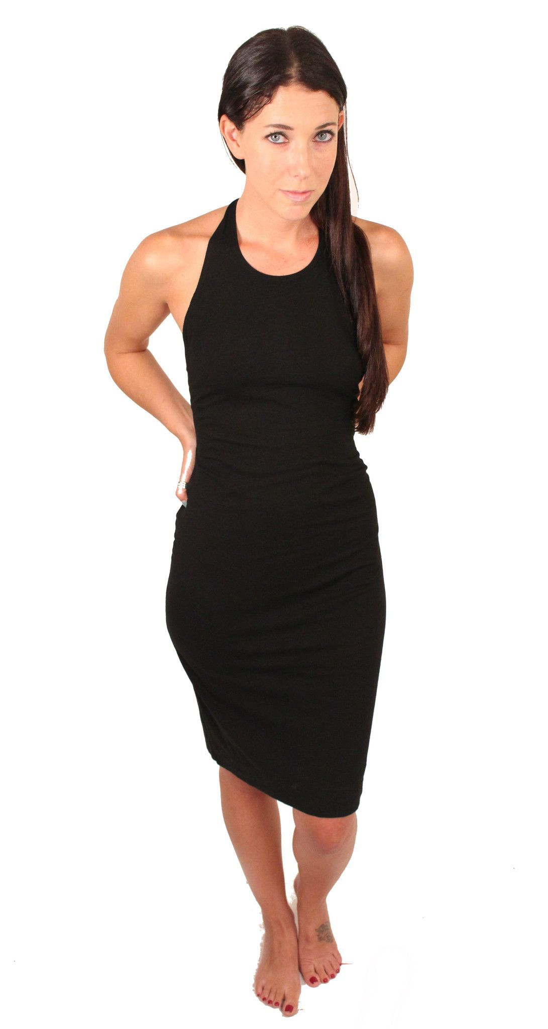 T-Back Ruched Bodycon Dress