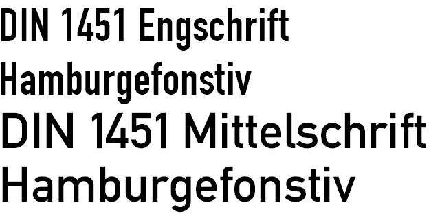 Din Engschrift - Alternate Font