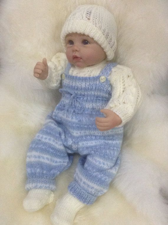 Baby Boy Overalls Outfit 0-3 Months or will fit a 22 inch Reborn ...