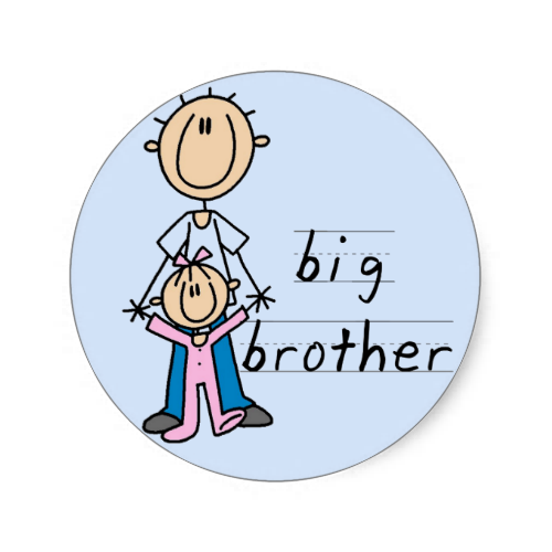 Big Brother With Baby Sister Tshirts And Gifts Classic Round