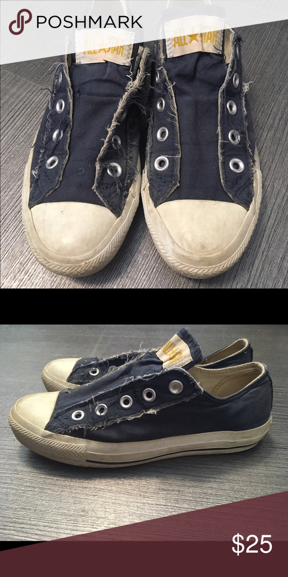 86d0345f0406 Converse Navy blue laceless converse. Slightly worn Converse Shoes Sneakers