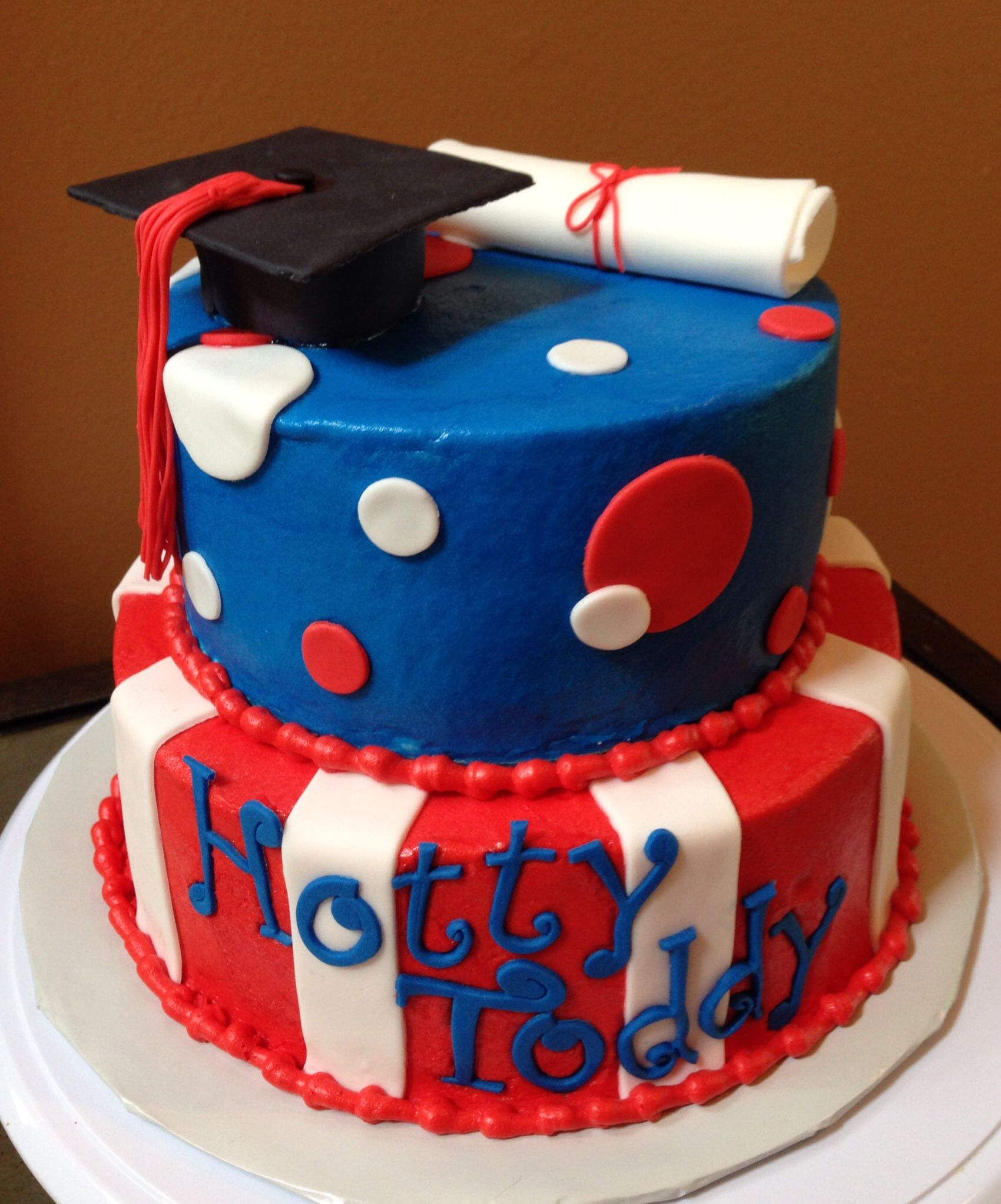 Hotty Toddy Ole Miss Graduation Cake