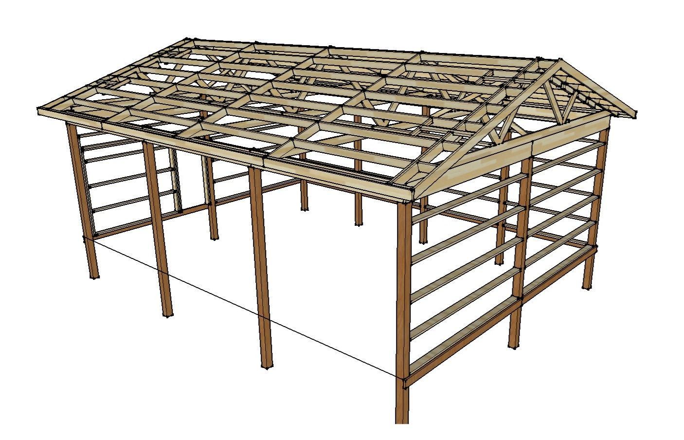 Pole barn plans and materials redneck diy outdoor for Pole barn layout
