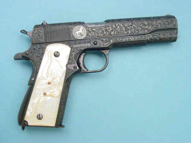 *Engraved Colt Model 1911A1 Semi-Automatic Pistol.