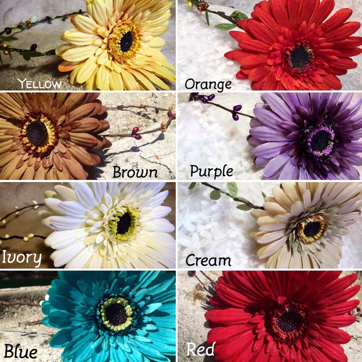 What Botanic Artistry Gerbera Daisy Stem Tiara Color Is Your