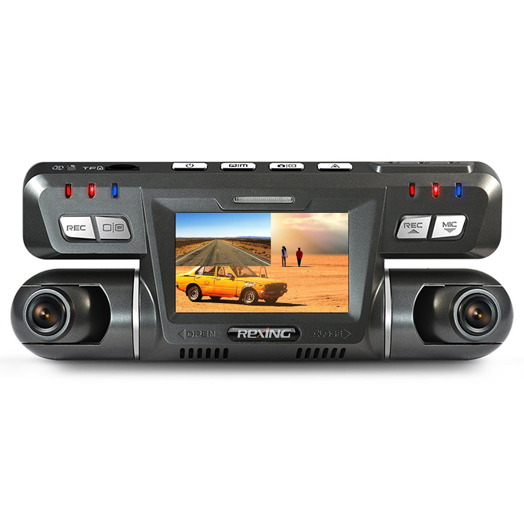 Rexing G600 Dash Cam Dual Front And Rear With 265 Degree Angle