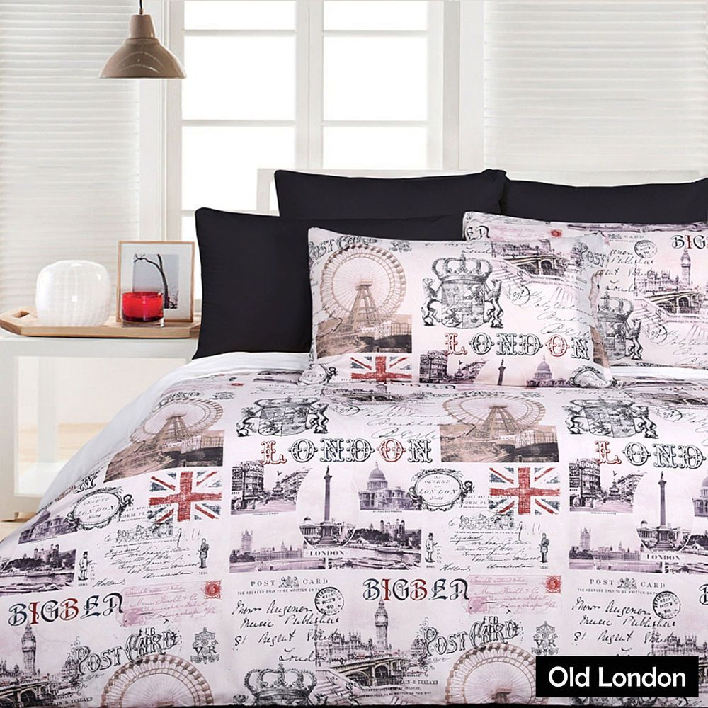 Old London Ben Union Jack Quilt Cover Set Single Double Queen King