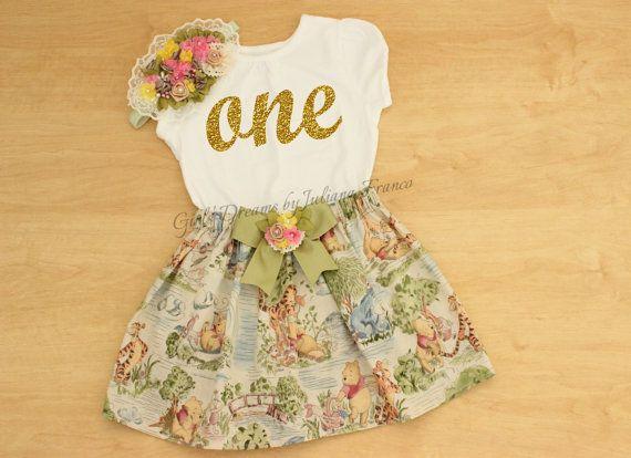 7e2f8c07949f1 Winnie The Pooh Birthday Outfit, Winnie the Pooh Tutu, Personalized ...