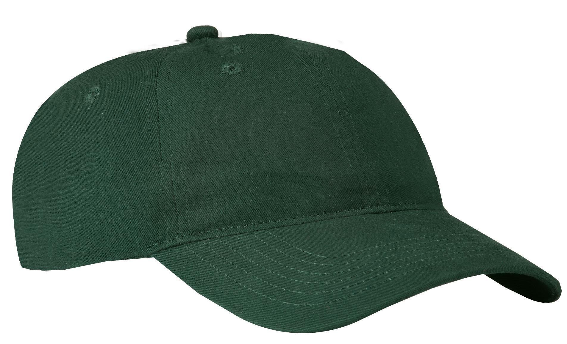 Port /& Company Lightweight Self Fabric Cotton Low Profile Buckle Twill Cap CP77