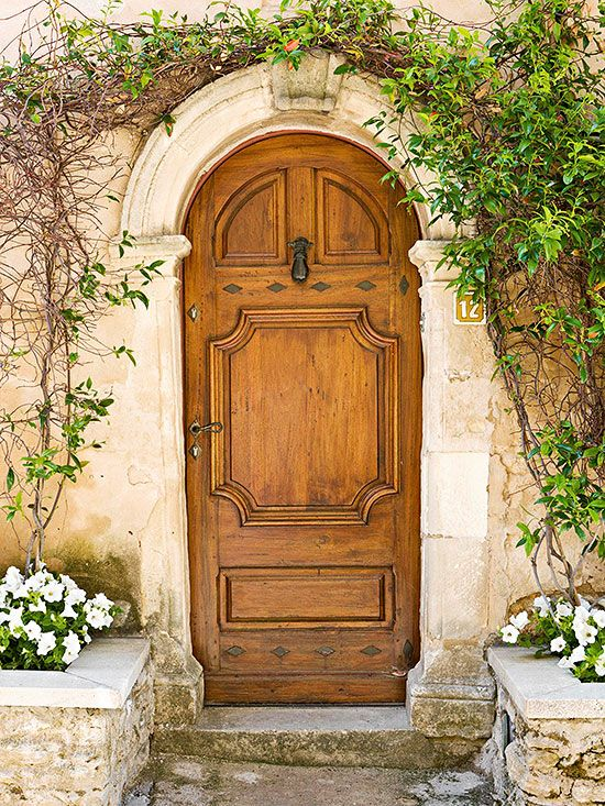 ... are also hallmarks of homes windows and doors of worldly influence. Here raised panels are the most distinctive detail of this European-style ... & Worldly Influence Front Doors   Wood doors European style and Arch