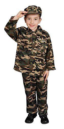 0f690159d61 UHC Little Army Officer Uniform Toddler Kids Fancy Dress Halloween Costume