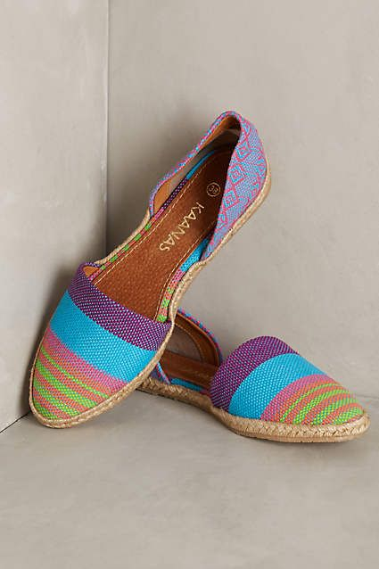 Kaanas Fiji Espadrilles - anthropologie.com #anthrofave There is a pinkish pair too...I will be getting one of them, not sure which yet!!
