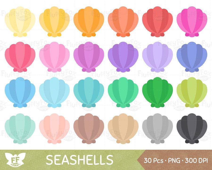 Seashell Clipart Nautical Clip Art Marine Sea Shell Scallop Etsy Seashell Clipart Clip Art Sea Shells