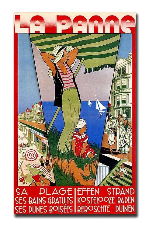 Cartel En Atelier Belge Vintage Beach Posters Art Deco Posters Vintage Posters