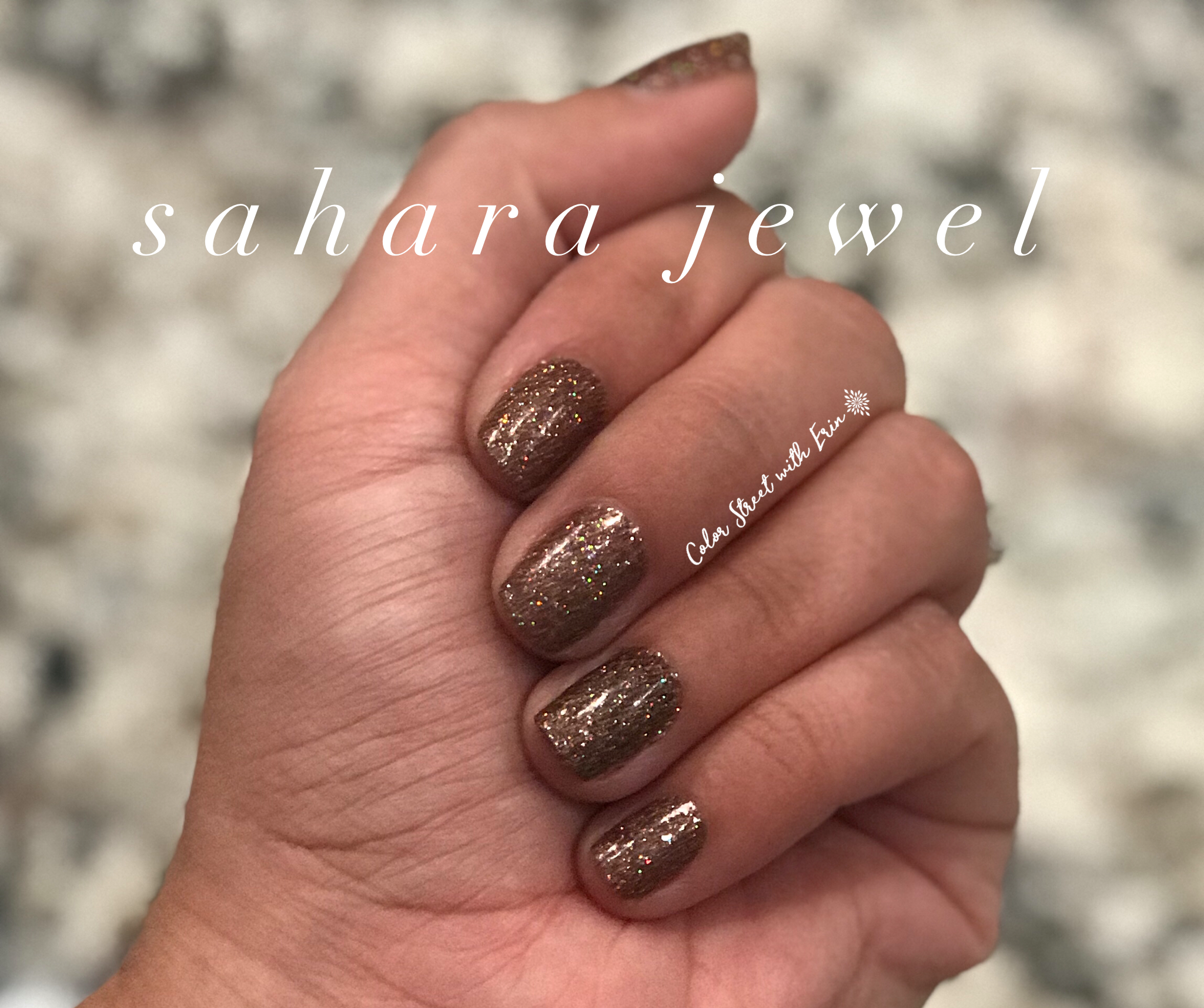 Sahara Jewel by Color Street is the perfect fall glitter nail polish ...