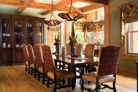 Comedor de dise o elegante pero que entona bien con un for Diseno de interiores rusticos