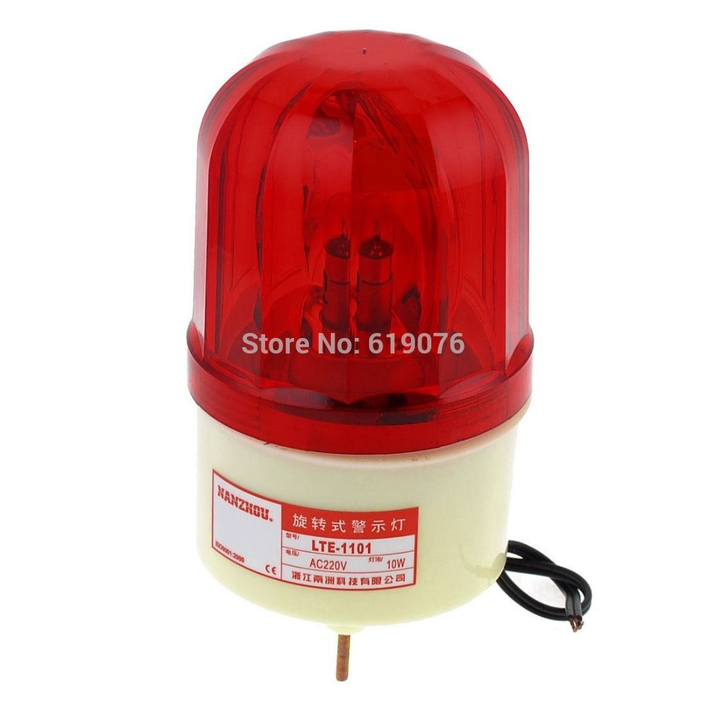 Ac 220v 10w Buzzer Sound Industrial Signal Tower Rotating Light Warning Lamp Lte 1101 Buzzer Lamp Lights