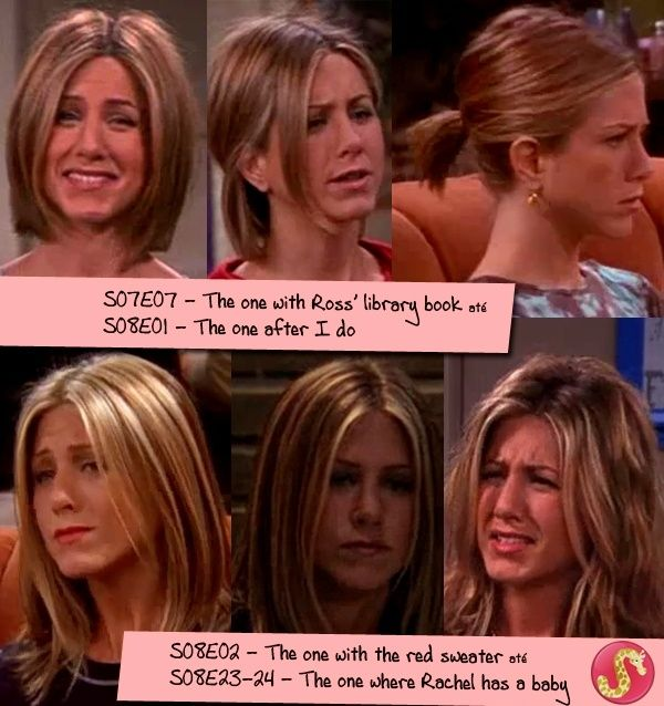 Jennifer Aniston Haircut Rachel Green Friends Season 708 Love The