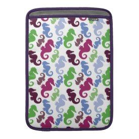Seahorses Pattern Nautical Beach Theme Gifts MacBook Sleeves