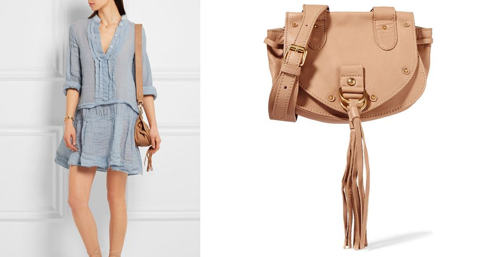 Collins Small Textured-Leather Shoulder Bag, £295