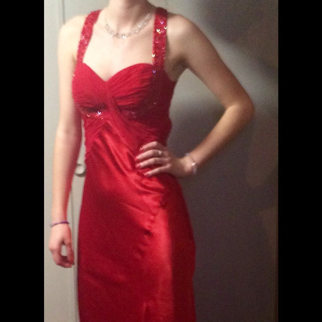 Red prom dress excellent condition products