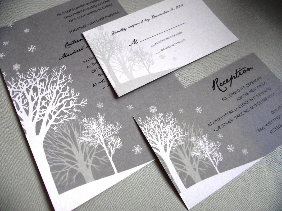 Winter Wedding Invitation Wording: Winter Wonderland Wedding Invitations Www.thepolitefox.com