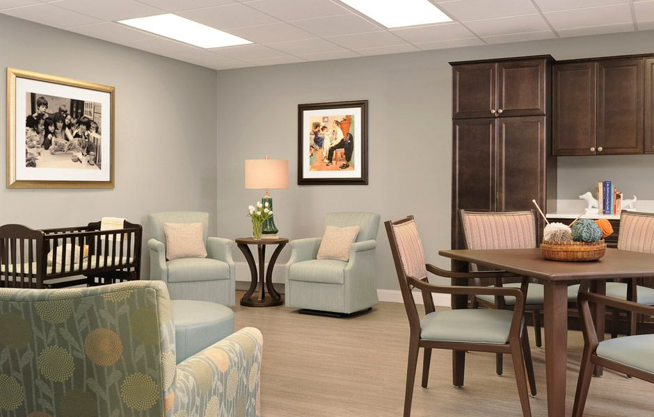Westbridge Memory Care Activity Room Design By Spellman Brady Company Interior Design For