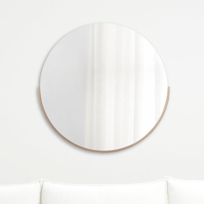 Gerald Small Round Rose Gold Wall Mirror Gold Mirror Wall Gold Walls Mirror Wall