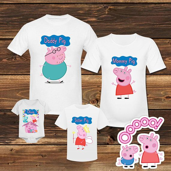 977772c0 Peppa Pig Birthday Shirt Peppa Pig Family Birthdat T shirt Peppa Pig ...