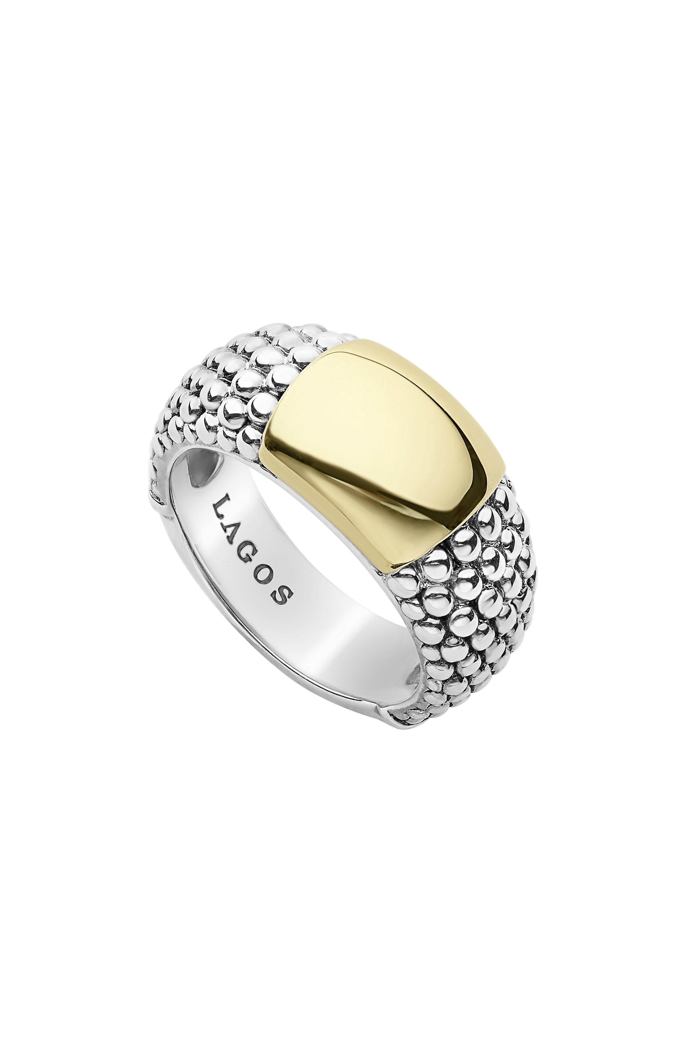 LAGOS Signature Caviar High Bar Ring available at