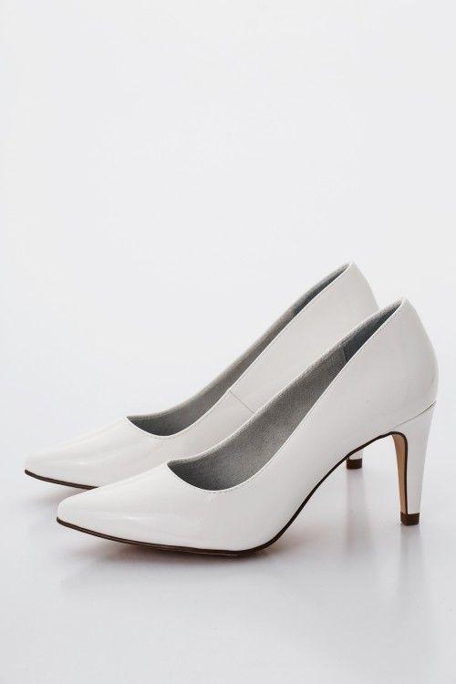 Fehér Tamaris Női Magassarkú cipő Kép  3d2ce9e16b