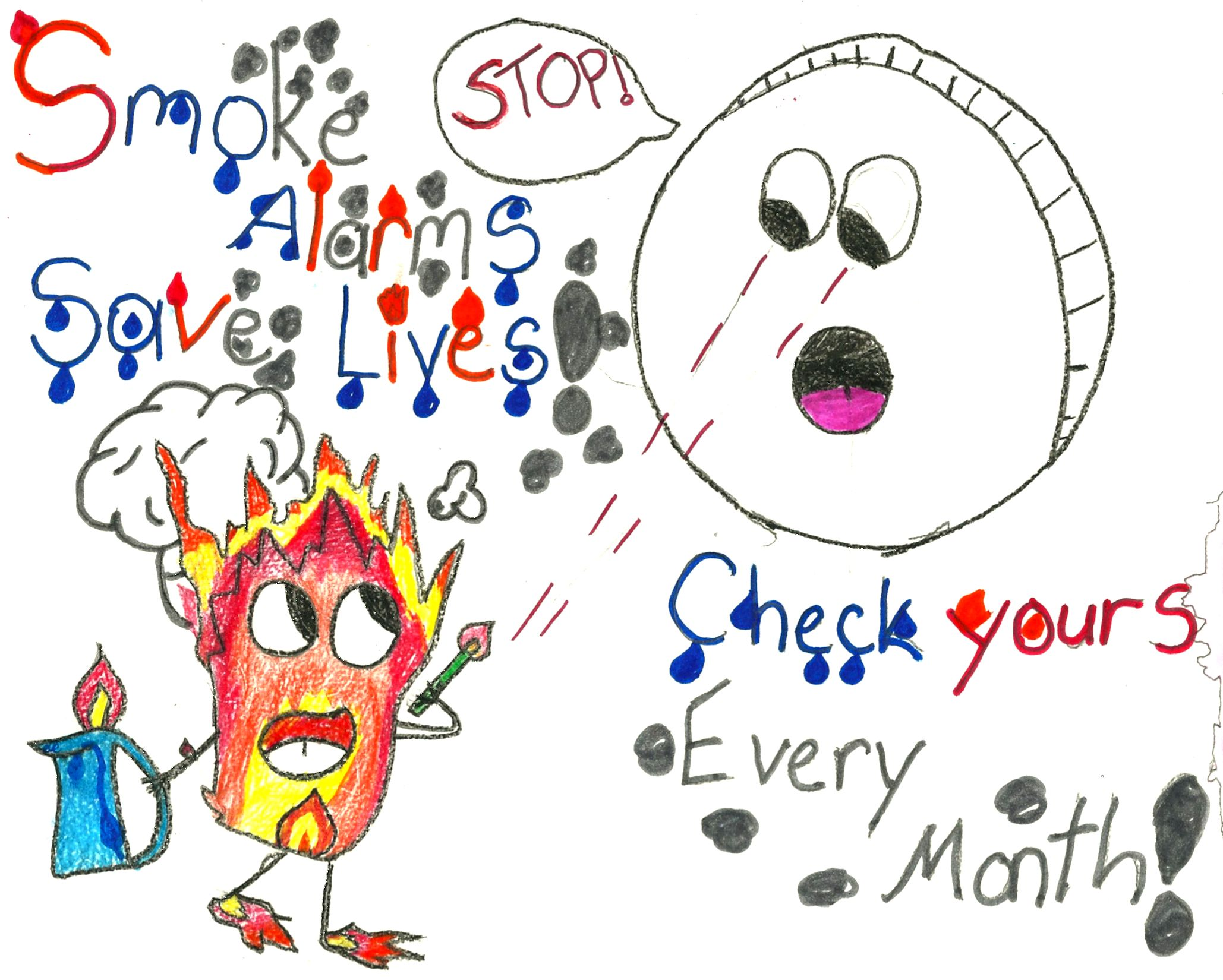 Fire Safety Poster Contest Fire safety poster, Fire