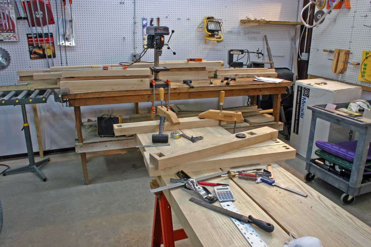 Garage woodworking shop layout plan if your interested in for Garage woodshop plans