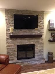 Image Result For Shelving Ideas Beside Stone Fireplace With Tv Above Fireplace Wall Tv Above Fireplace Indoor Fireplace