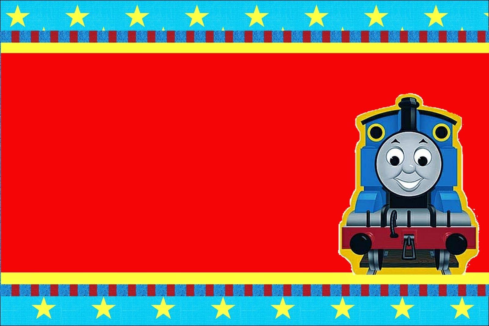 Tren Thomás: Invitaciones para Imprimir Gratis.   Thomas   Pinterest ...