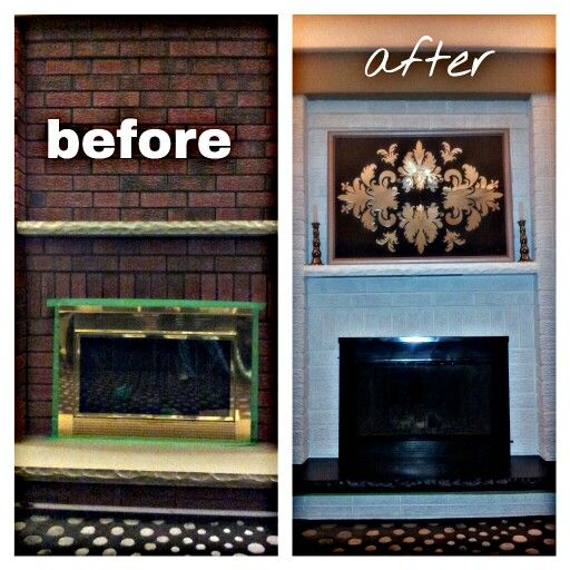 Revamped Brass Old School Fireplace! Brick Paint And Fire