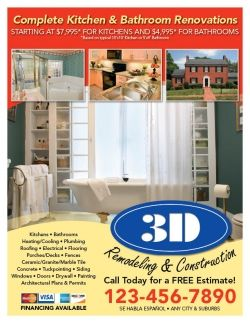 Home Remodeling Contractors Flyer - info on paying for house ...