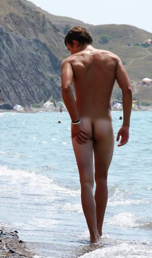 on ass beach boy nude