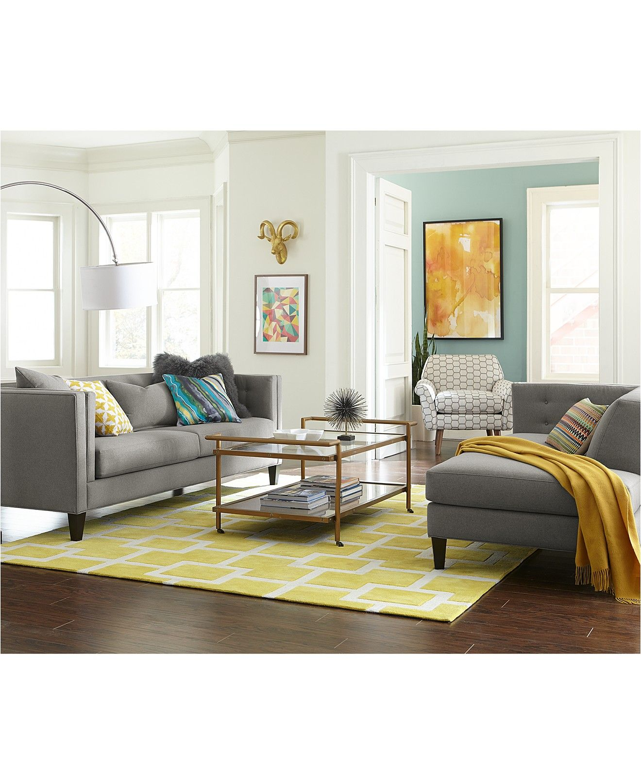 Braylei 88 Fabric Track Arm Sofa, Created For Macy's