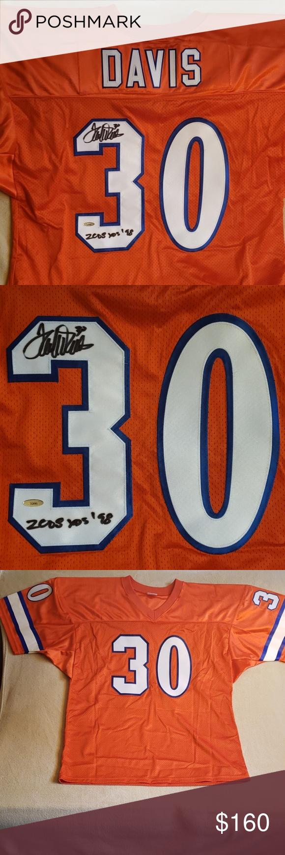 the best attitude 8d724 b88ef Signed Terrell Davis Orange Crush Broncos Jersey Terrell ...