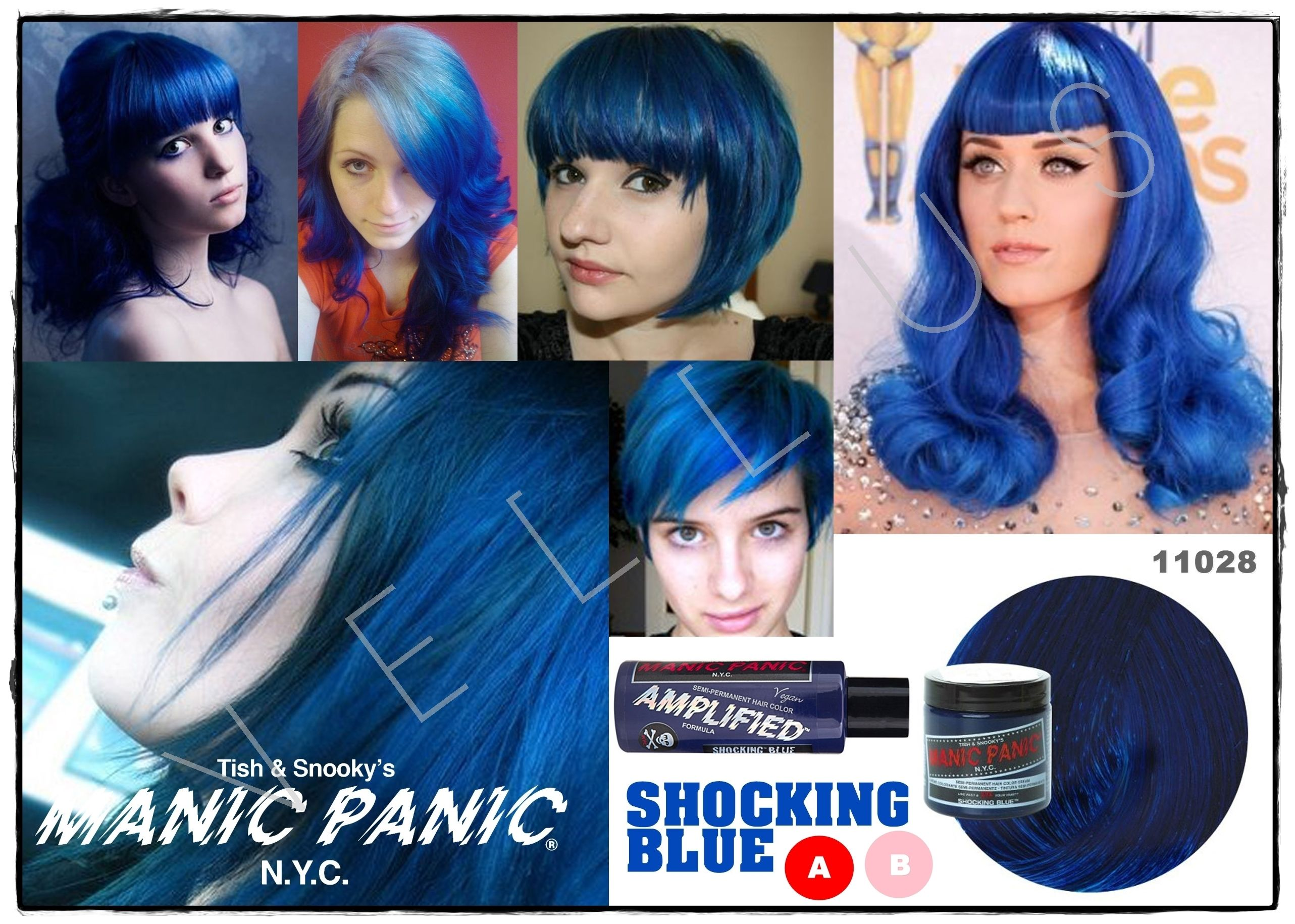 Manic Panic Amplified Shocking Blue Vellus Hair Studio 83a Tanjong